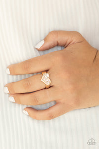 Paparazzi Ring PREORDER ~ Heart of BLING - Gold