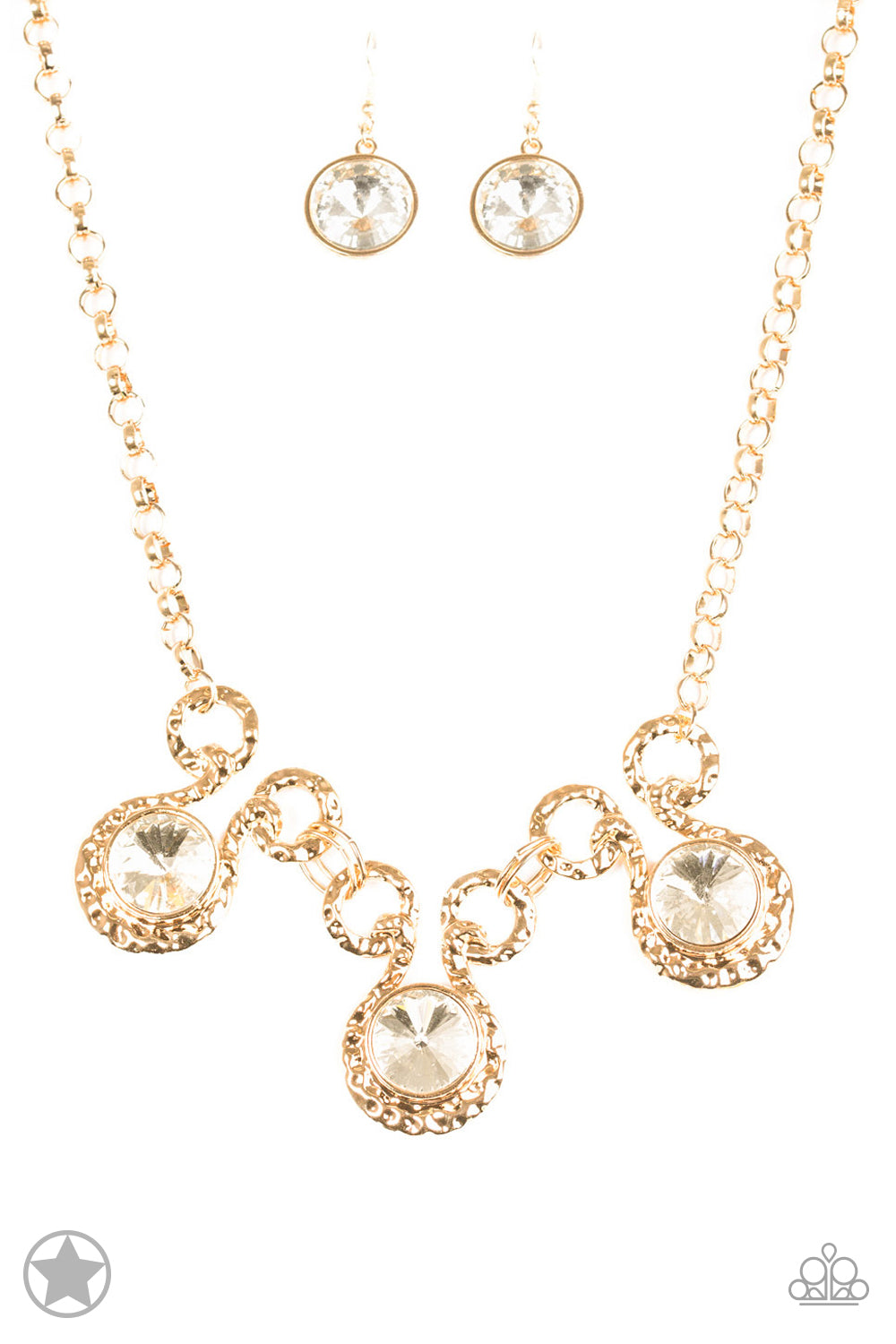 Paparazzi Necklace Blockbuster - Hypnotized - Gold