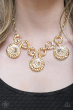 Load image into Gallery viewer, Paparazzi Necklace Blockbuster - Hypnotized - Gold