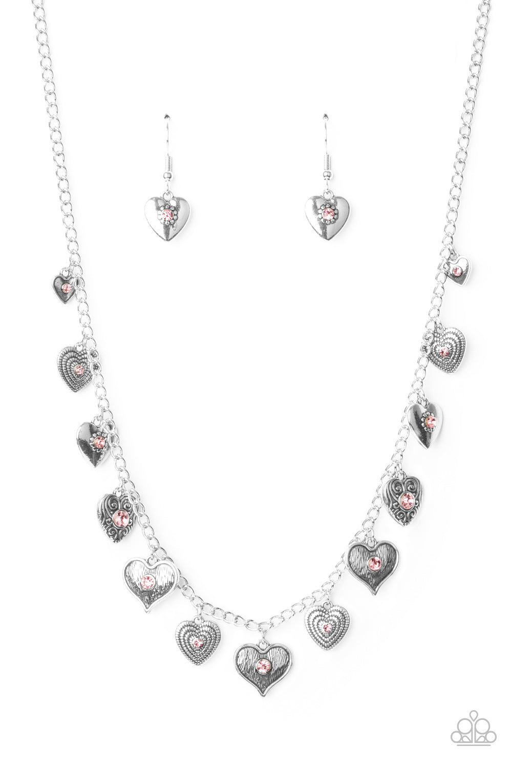 Paparazzi Necklace PREORDER ~ Lovely Lockets - Pink