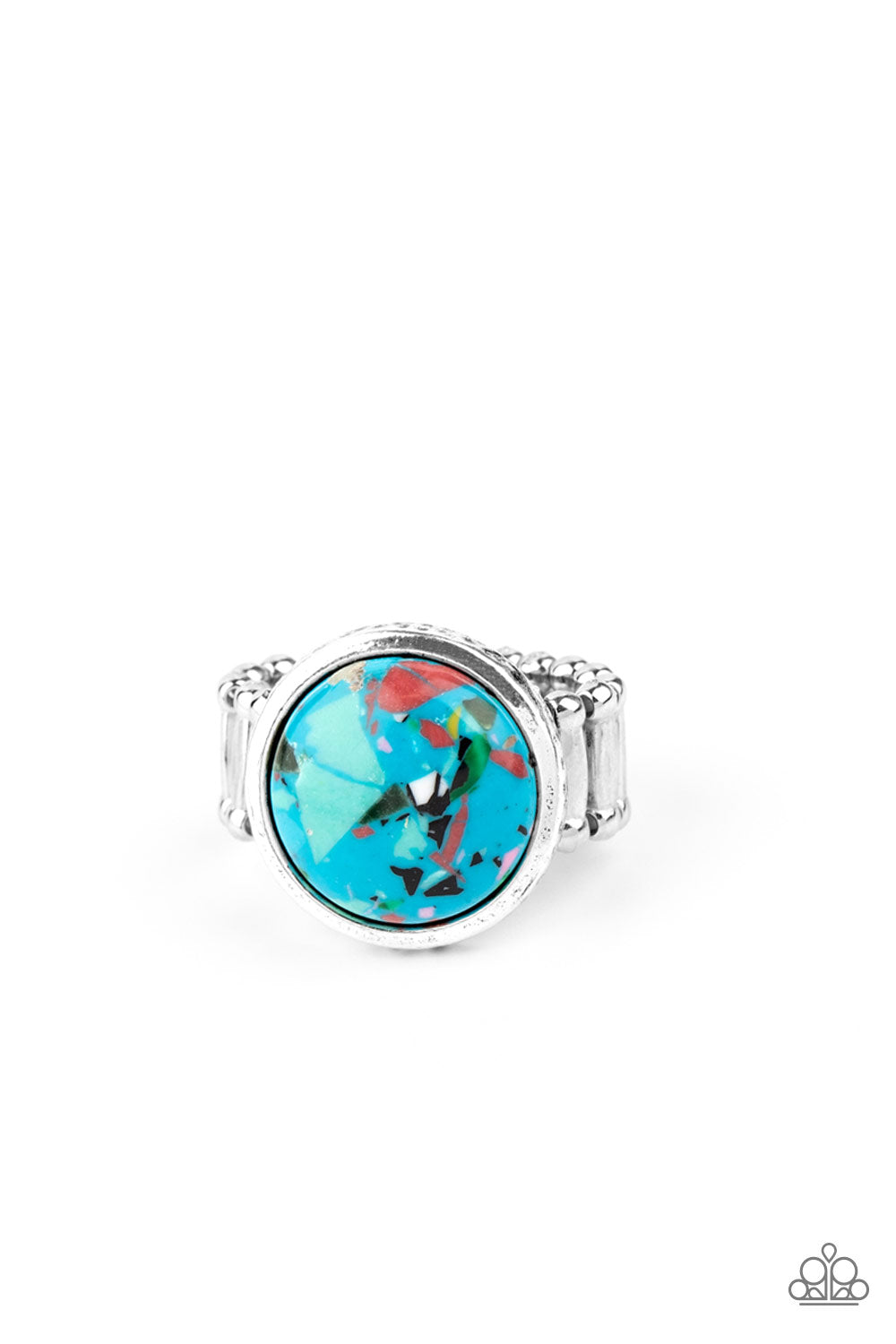 Paparazzi Ring PREORDER ~ Marble Mosaic - Blue