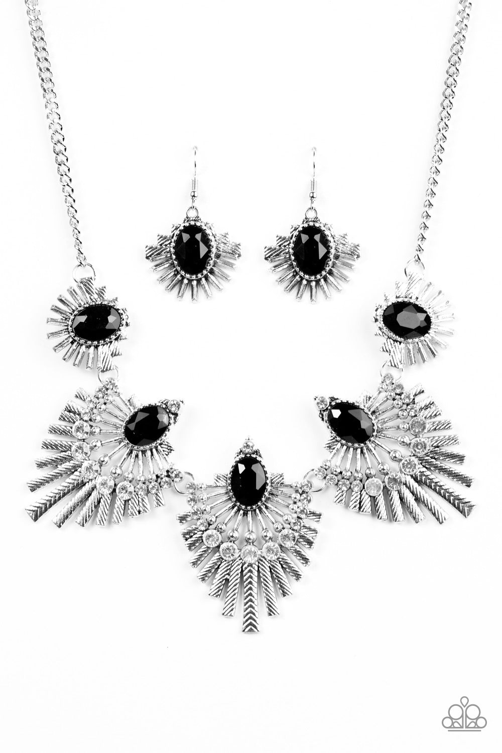 Paparazzi Necklace ~ Miss YOU-niverse - Black