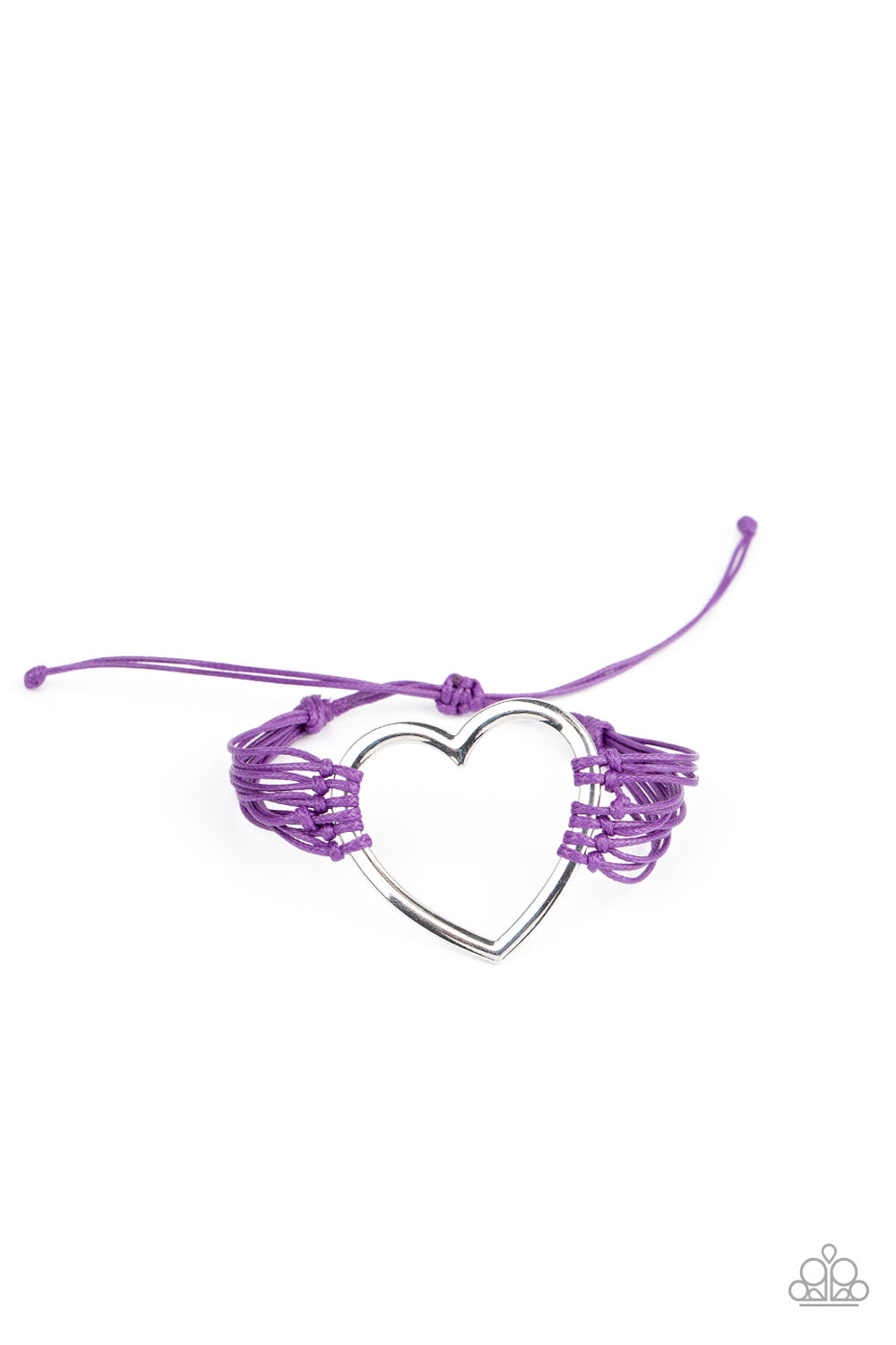Paparazzi Bracelet ~ Playing With My HEARTSTRINGS - Purple