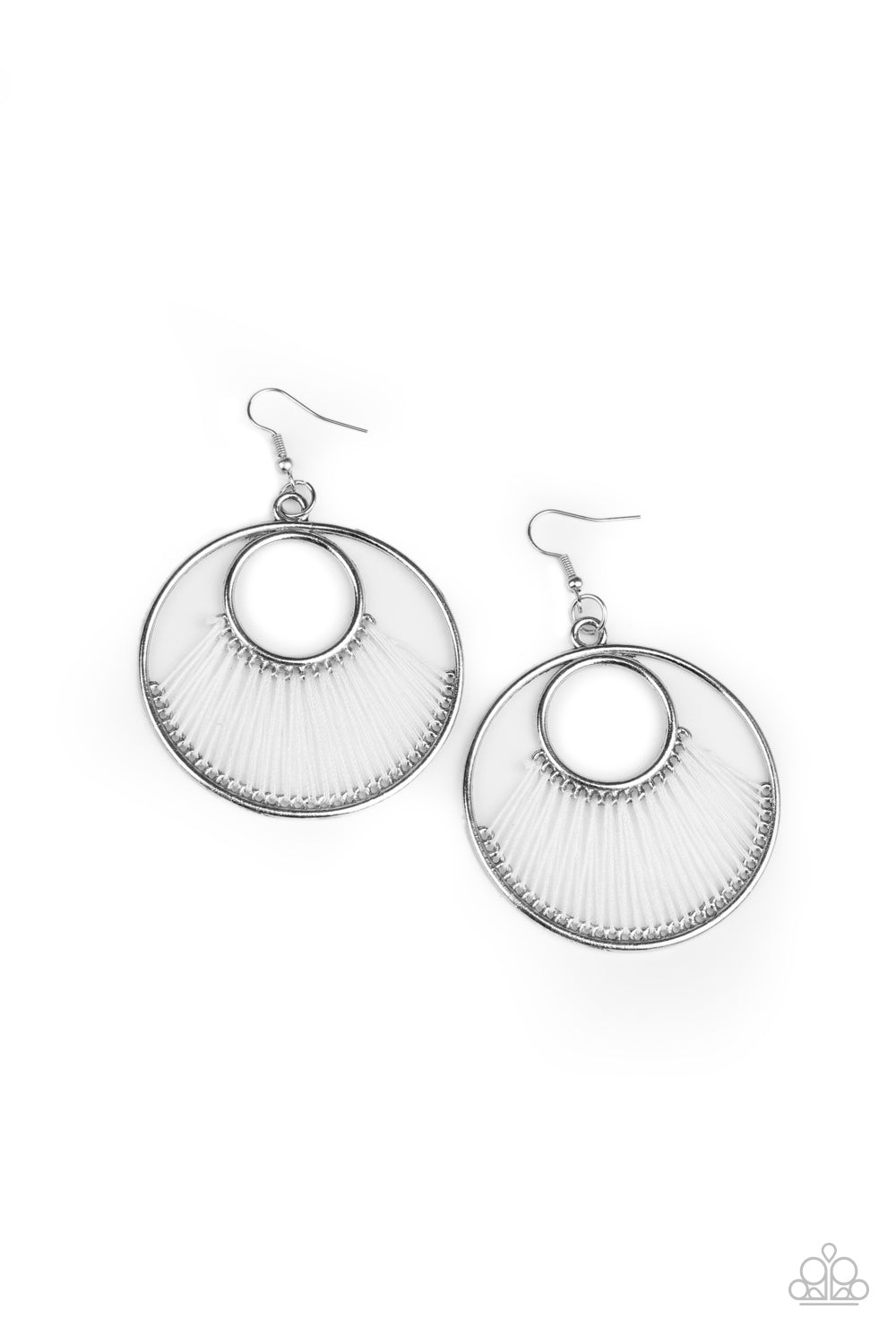 Paparazzi Earring ~ Really High-Strung - White