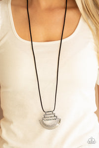 Paparazzi Necklace EMP Exclusive ~ Rise and SHRINE - Black