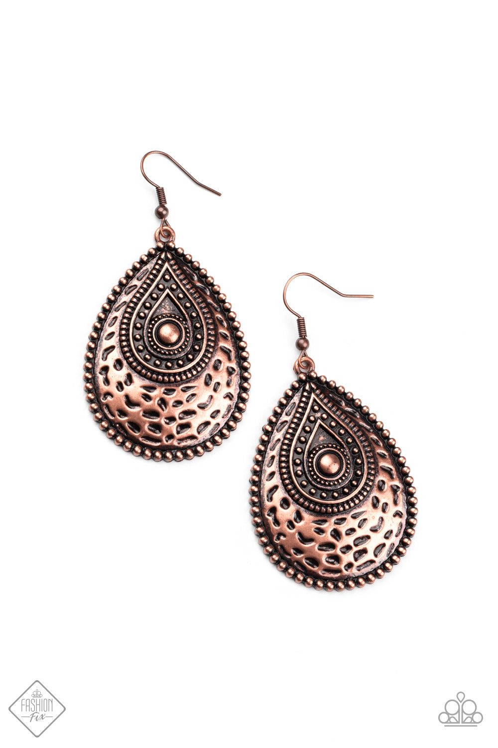 Paparazzi Earrings ~ Rural Muse - Fashion Fix Nov 2020 - Copper