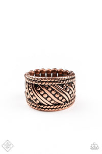 Paparazzi Ring ~ Slanted Shimmer - Fashion Fix Nov 2020 - Copper
