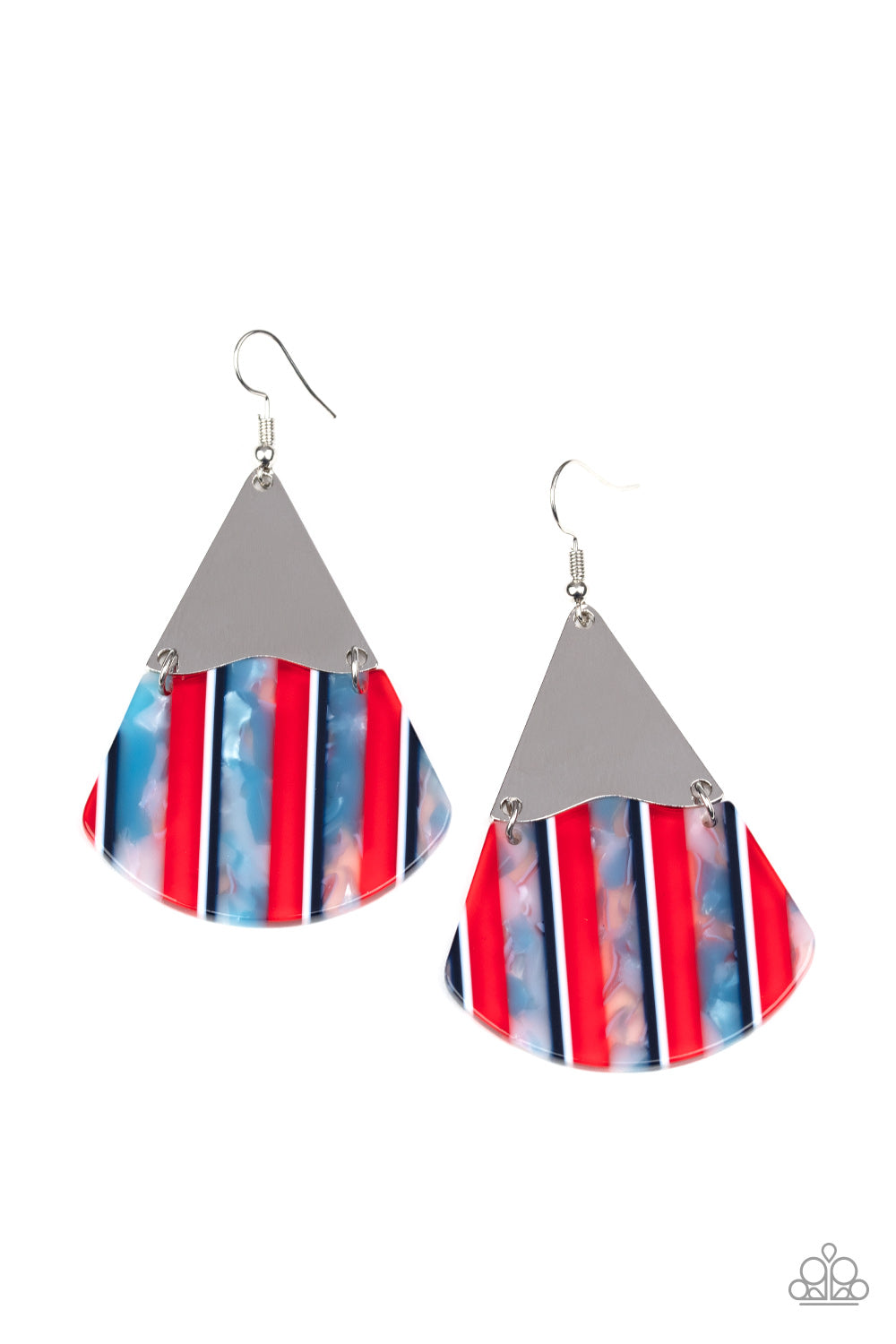 Paparazzi Earrings ~ Social Animal - Red