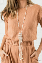 Load image into Gallery viewer, Paparazzi Necklace ~ Macrame Majesty - Fashion Fix Nov 2020 - White