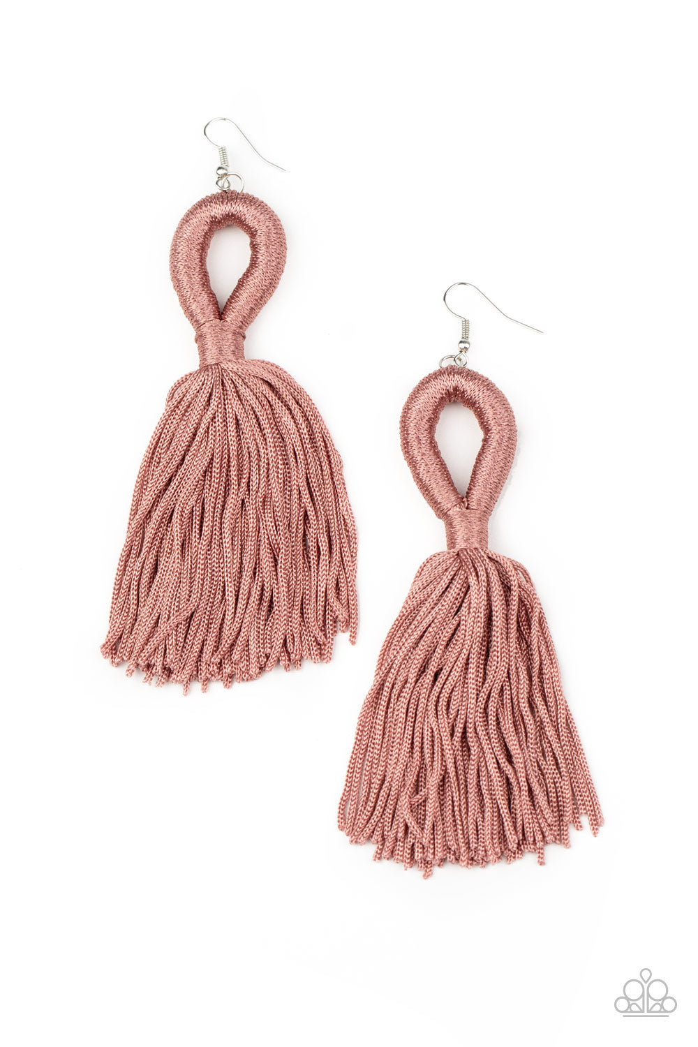 Paparazzi Earring ~ Tassels and Tiaras - Pink