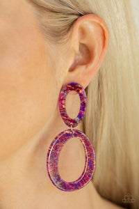 Paparazzi Earring ~ Hey, HAUTE Rod - Multi