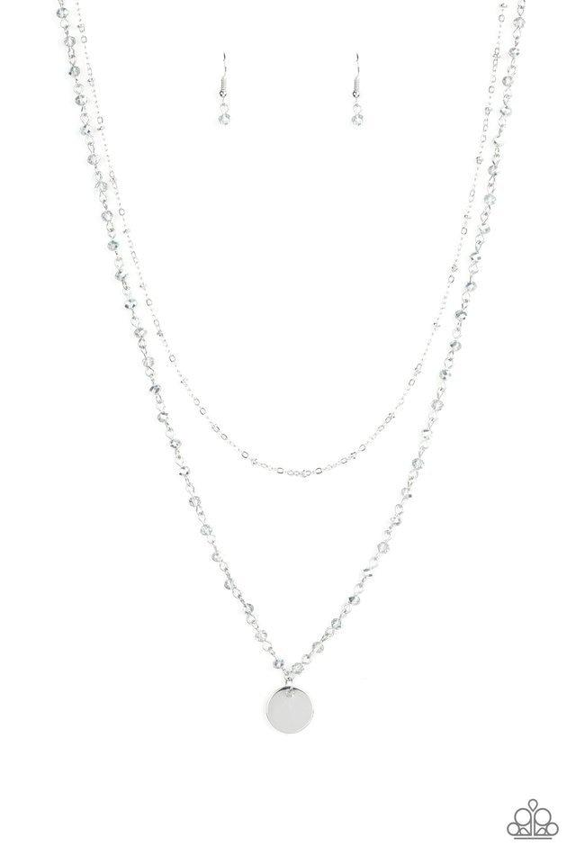 Paparazzi Necklace ~ Dainty Demure - Silver
