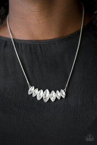 Paparazzi Necklace ~ Leading Lady - White