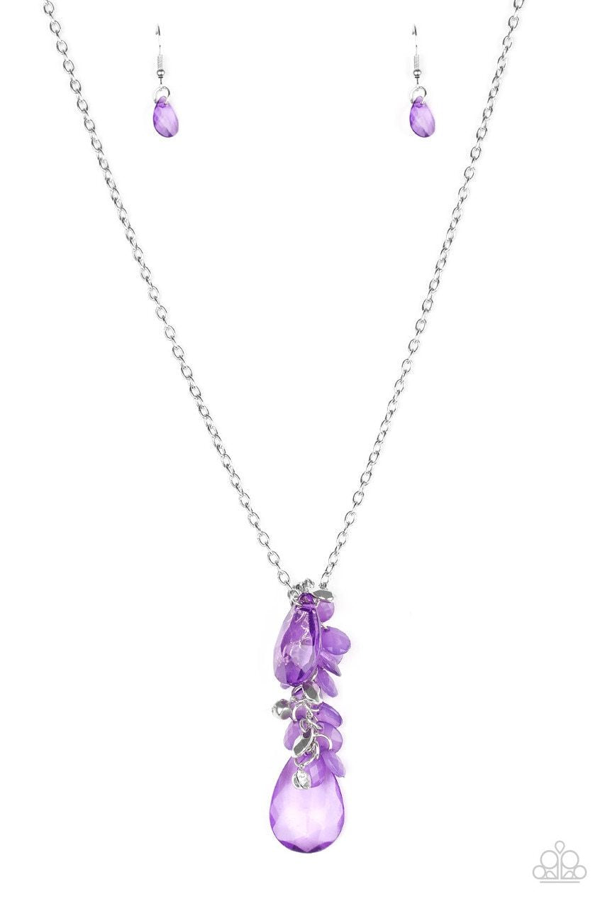 Paparazzi Necklace ~ Summer Solo - Purple