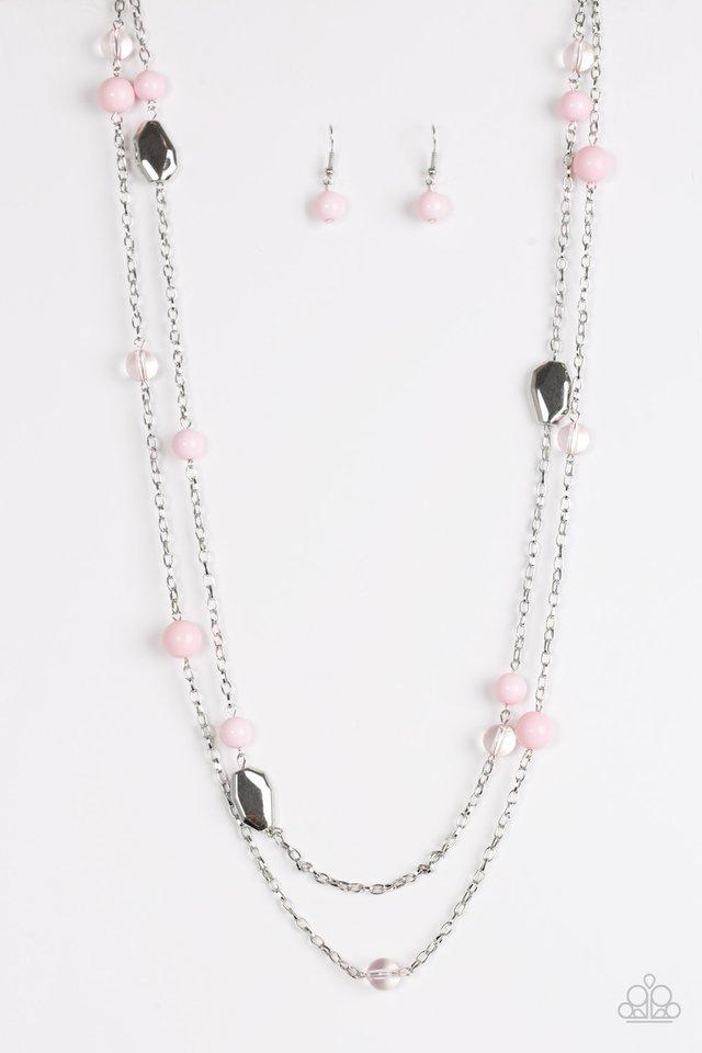 Paparazzi Necklace - Hitting A GLOW Point - Pink