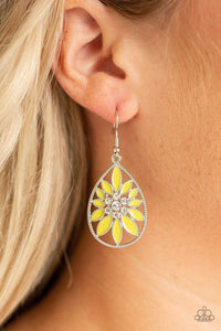 Paparazzi Earring ~ Floral Morals - Yellow