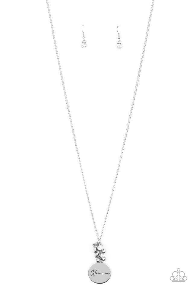 Paparazzi Necklace ~ Going For GLAM-ma - White