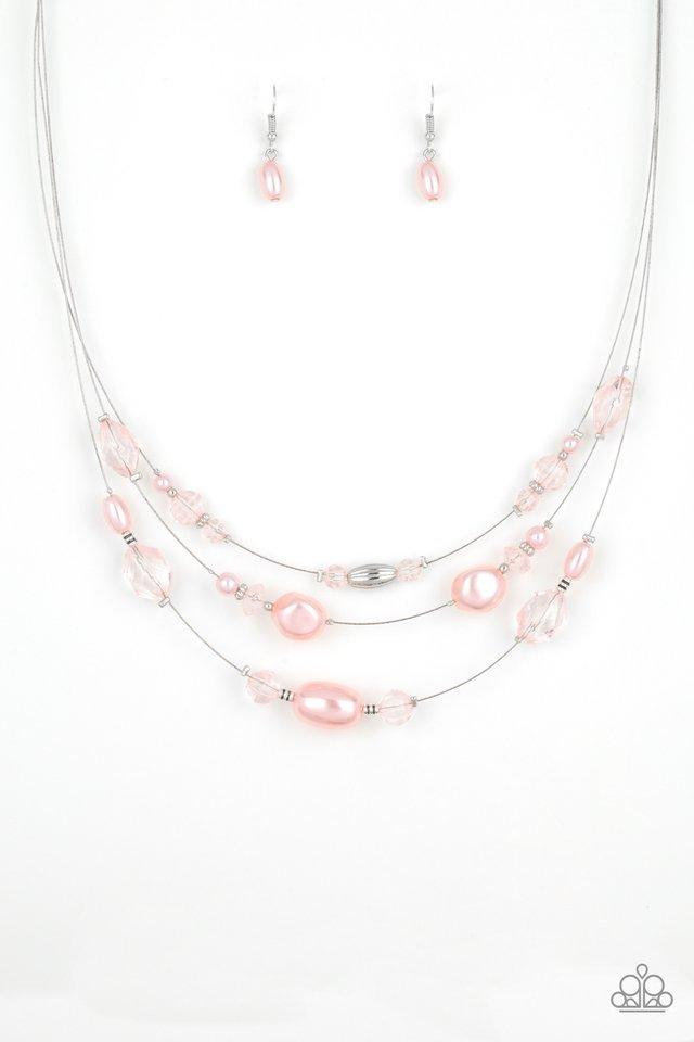 Paparazzi Necklace ~ Pacific Pageantry - Pink