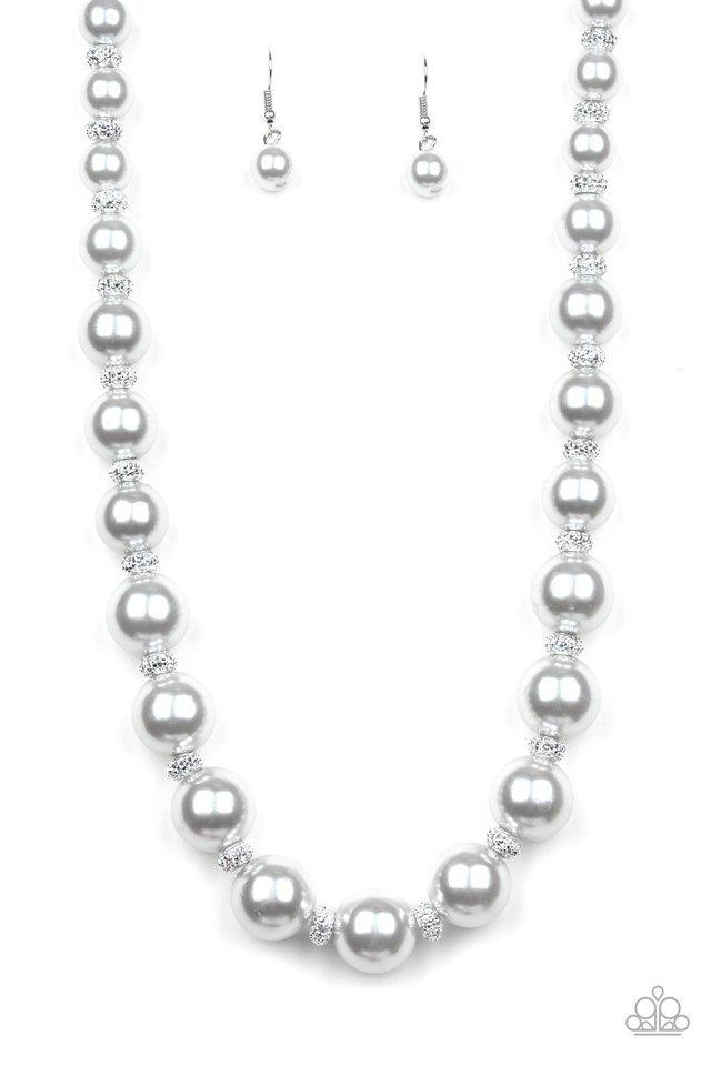 Paparazzi Necklace ~ Uptown Heiress - Silver
