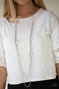 Paparazzi Necklace ~ Collectively Carefree - Pink