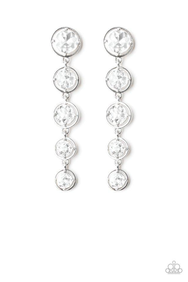 Paparazzi Earring ~ Drippin In Starlight - White