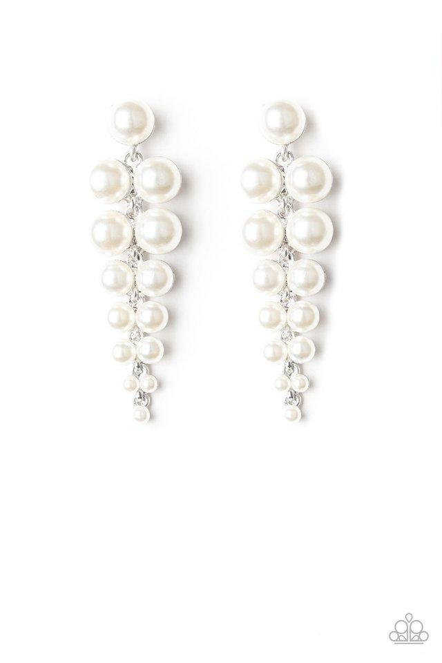 Paparazzi Earring ~ Totally Tribeca - White