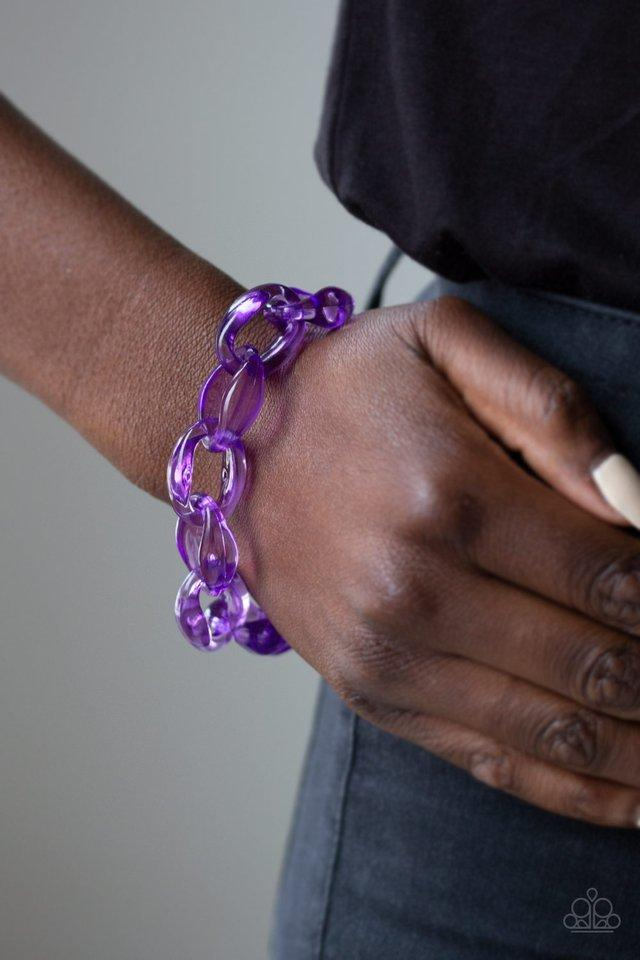 Paparazzi Bracelet ~ Ice Ice Baby - Purple