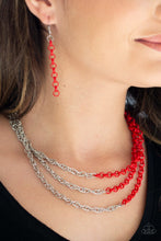 Load image into Gallery viewer, Paparazzi Necklace ~ Turn Up The Volume - Red