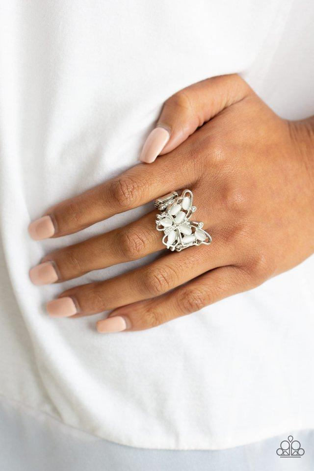 Paparazzi Ring ~ Flutter Flair - White