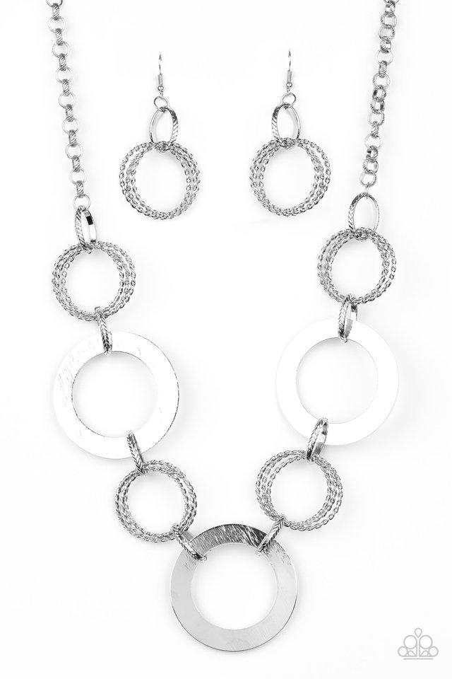 Paparazzi Necklace ~ Ringed in Radiance - Silver