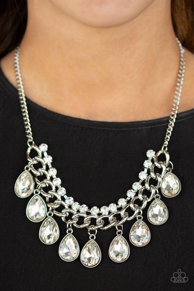 Paparazzi Necklace ~ All Toget-HEIR Now - White
