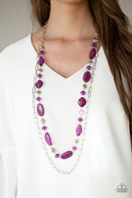 Load image into Gallery viewer, Paparazzi Necklace ~ Colorful Couture - Purple