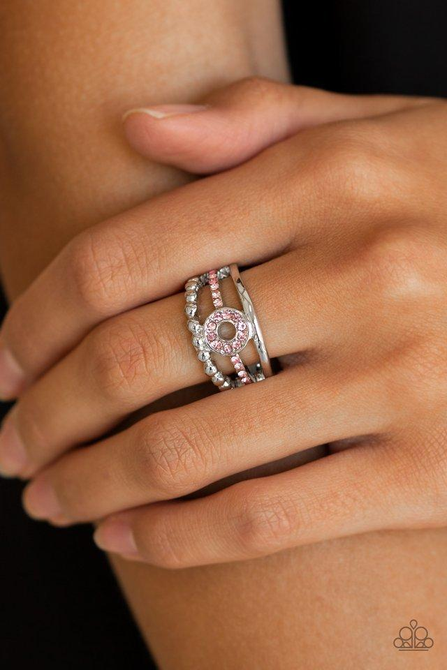Paparazzi Ring ~ Cost of Living - Pink