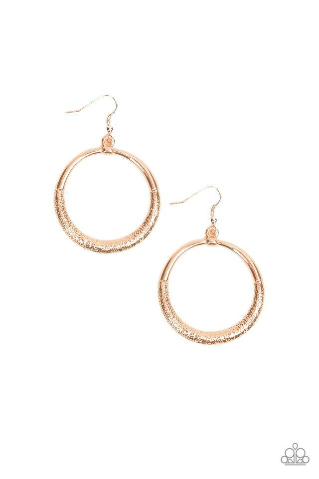 Paparazzi Earring ~ Modern Shimmer - Rose Gold
