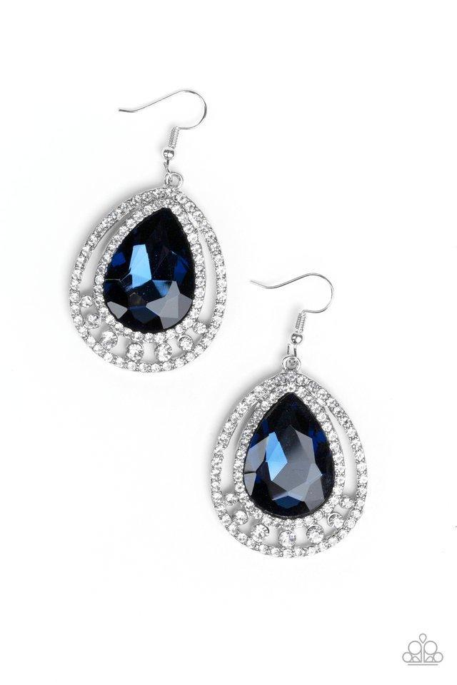 Paparazzi Earring ~ All Rise For Her Majesty - Blue