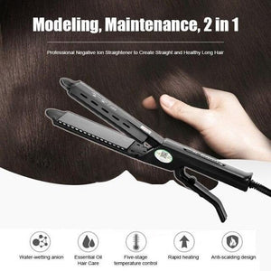 2020 Hot Selling- 2 in 1 Anti-Static Ceramic Straightener and Curling Iron Dual
