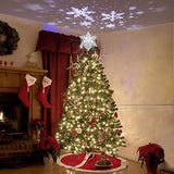 Christmas Tree Topper With Sflake Projector