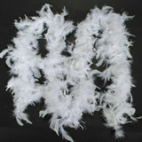2M White Feather Garland