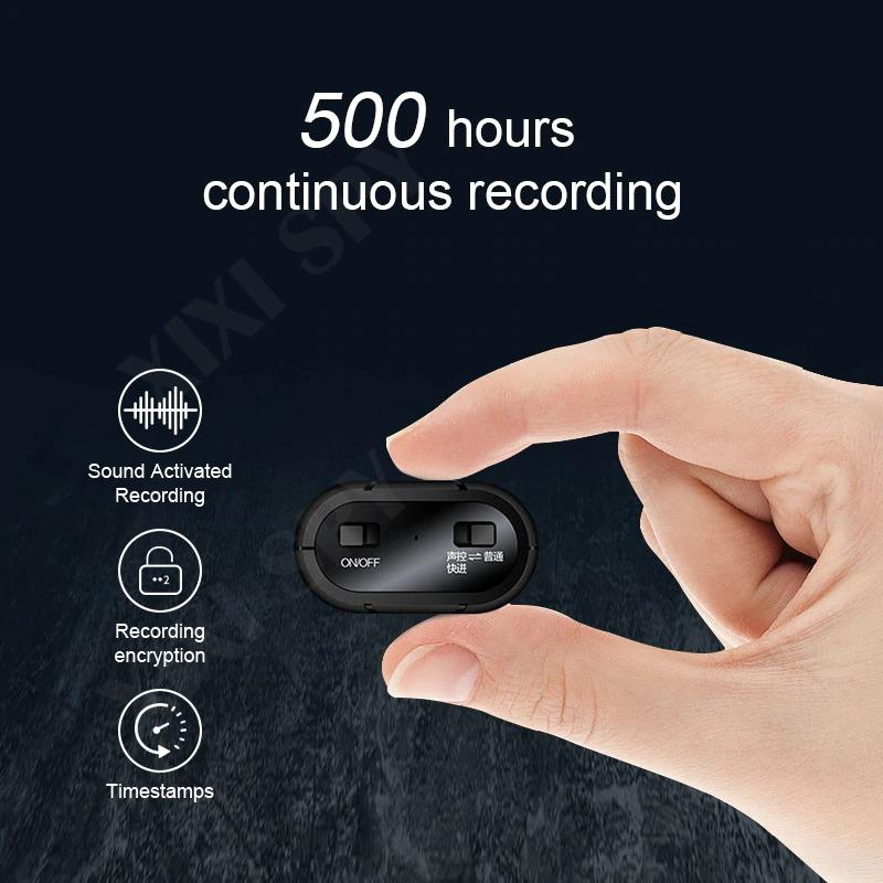 500Hours Voice Recorder Mini Spy Listening Device Recorder