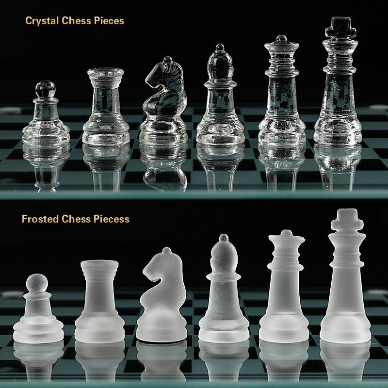 Acrylic Elegant Glass Chess Set