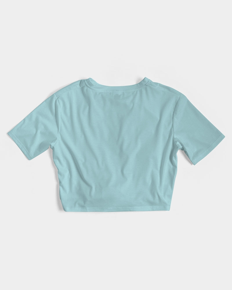 Twist-Front Cropped Tee