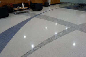 Polyester Terrazzo Cast on Site