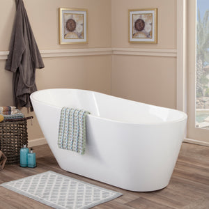 "Altair Design Shaia 67"" x 32"" Freestanding Soaking Acrylic Bathtub"