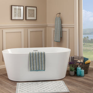 "Altair Design Cielo 59"" x 30"" Freestanding Soaking Acrylic Bathtub"