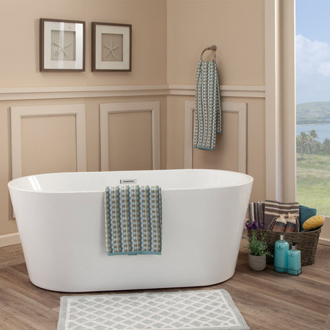 "Image of Cielo 67"" x 32"" Freestanding Soaking Acrylic Bathtub"