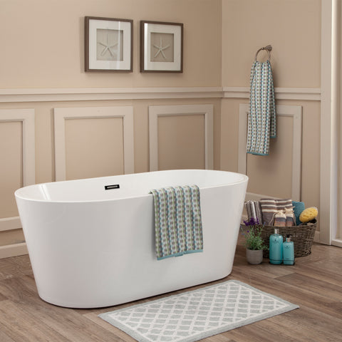 "Cielo 67"" x 32"" Freestanding Soaking Acrylic Bathtub"