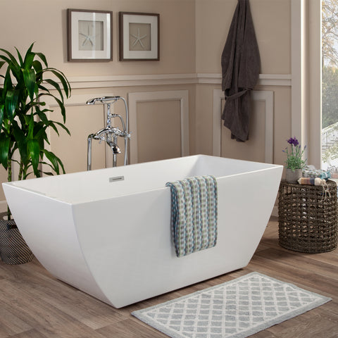 "Image of Montague 59"" x 30"" Freestanding Soaking Acrylic Bathtub"