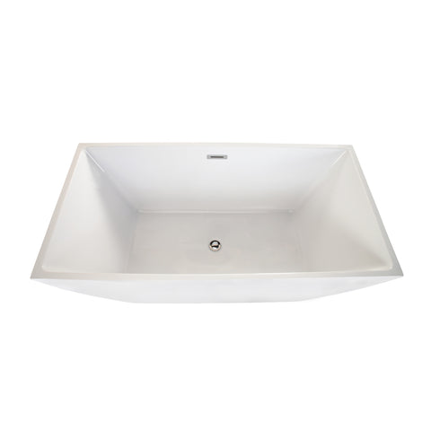 "Montague 59"" x 30"" Freestanding Soaking Acrylic Bathtub"