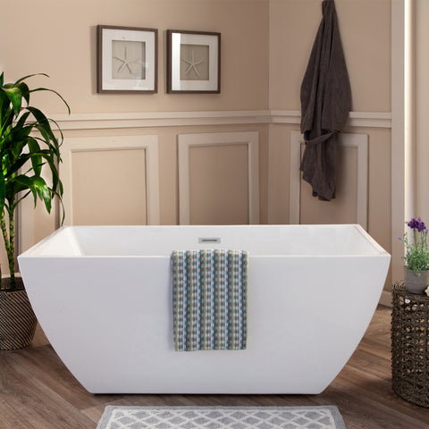 "Montague 67"" x 32"" Freestanding Soaking Acrylic Bathtub"