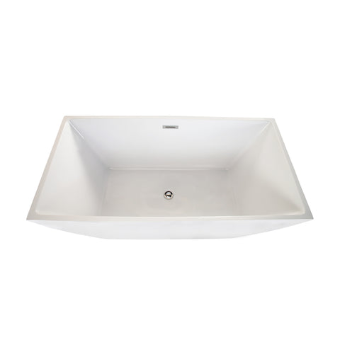 "Image of Montague 67"" x 32"" Freestanding Soaking Acrylic Bathtub"